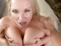 Rachel Love gets her big tits round a fortunate cock