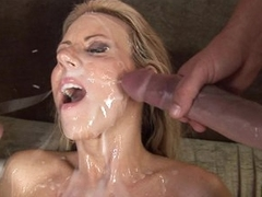 Carolyn Reese lets a hard cock unload all relinquish her pretty face