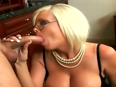 Nasty Grub Streeter Jordan Jolie pleases her boss Sergio with a hot and spicy blowjob session in office