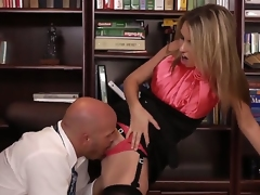 The office becomes really downhearted with crazy hot secretary Courtney Cummz and her boss Derrick Pierce