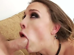 Hardcore anal at its best. Staring porn star Chanel Preston and Mark Wood. Watch this sexy brunettes face as this man with a big cock slides it deep into her tight ass hole. You just know she is loving every second of it.