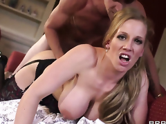 With big tits lets Danny D fuck her enchanting mouth before anal sex