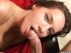 Karina OReilley fucks the cum out of guys ram rod