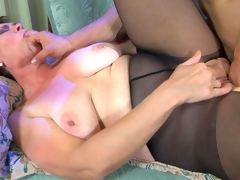 MaturesAndPantyhose Video: Meggy A and Nicholas