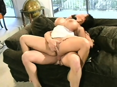 Voluptuous Asian milf Ava Devine has three guys drilling her holes like she deserves