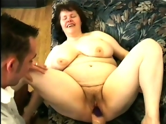 Fat aged bitch gets drilled and facialized like a porn slut