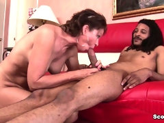German Milf with perfect body fucked by black monster cock