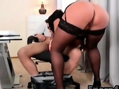 Big-tits babes engulfing stepbrother big cock