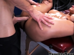 Breasty sporty Diamond Kitty pounded in butthole