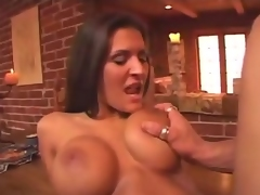 If you want to receive into Austin Kincaids pants, then the best way to do that would be to massage her huge tits. Watch as she has her huge pointer sisters fondled which got her so hot and horny that finally, she laid down on the kitchen table for some serious shagging.