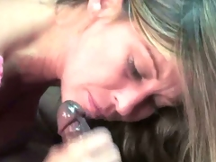 Leeanna Heart deepthroating a big black cock