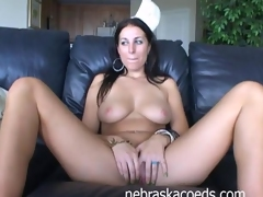 Raquel Back At Condo Glass Dildo