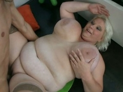 Shameless fatty granny opens be fitting of unselfish young cock