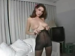 Pantyhose amulet play with busty mainly the level beauty