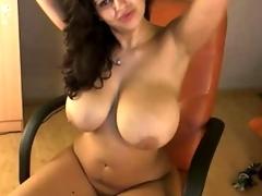 Fabulous huge tit webcam 32