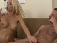 Busty blonde Stacy Silver enjoys procurement will not hear of pussy and ass pounded
