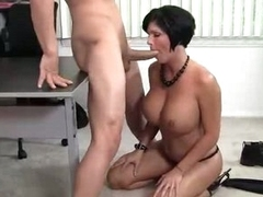 Horny Boss Shay Fox gobbles down this tasty prick