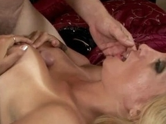 Hawt Blonde milf with huge tits gets fucked by big hard penis