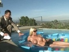 Obese Tittied Blonde Loving Her Future Boss' Cock