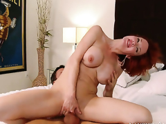 Alan Stafford is horny and cant wait any more to drill Veronica Avluv with big tits and bald beaver