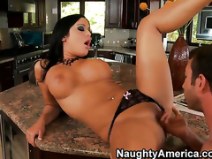 Angelica Heart with phat arse and hairless beaver makes her anal dreams a reality with hot guyJordan Ash