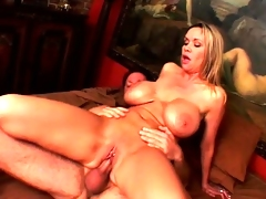 Bridgette's huge tits shake and jiggle as this babe gets fucked unfathomable and hard