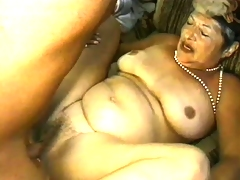 Uninhibited granny is eager to get screwed hard in doggy style