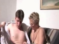 young couple and  older Mamma fucks