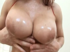 Hot redhead big tits MILF pussy anal fuck