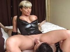 Horny slattern torture the bondage cock
