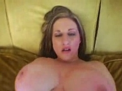 Huge Boobed Fattie Satisfying POV