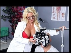 Nikita, a sexy optometrist, is crushing hard on one of her clients. When that honey learns that guy's coming in for an eye exam, that honey gives a decision to fuck with him a little - until this boy truly bonks her.