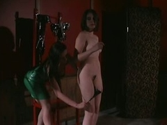 Busty Dominatrix Gives Painful Nipple Torture To Her Lesbian Sex Serf