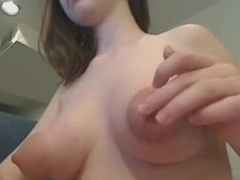 Super puffy nipps on amateur webcam girl