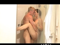 MOM Shower sex for MILF with hot lover