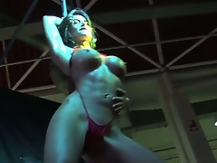 Franceska Jaimes presents an exciting and unforgettable pole dance for Nacho Vidal