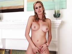 Brett Rossi with biggest jugs and bald twat shows it all in a tempting manner