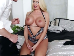 Summer Brielle is a beautiful busty blonde that needs sex tips from the pro to spice up her sex life. She get it from Ryan McLane that touches her big melons and bonks her pink pussy