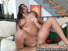 Exotic London Keyes with gigantic breasts needs sex desperately and gets it from Johnny Sins