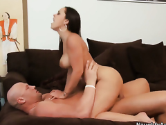 Christian makes Liza del Sierra with big bottom scream and shout with his sturdy snake in her ass