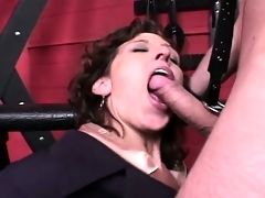 Naughty secretary gets taken to the dungeon and analized by her master
