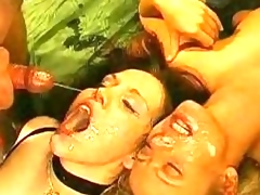 Double Bukkake + Cum Sharing