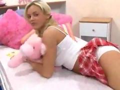 Schoolgirl in pigtails having hot hard sex