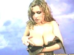 Busty oiled girl gets nailed hard