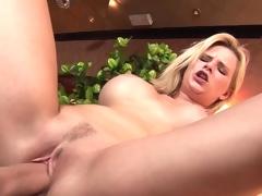 Huge core blonde bonking