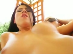 Afrodite got a lot of man's juice on her firm tits