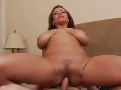 Busty Eva Notty bounces will not hear of pussy on this hard dick