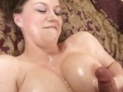 Big titted Sara Stone gets her bowels glazed with hot cum