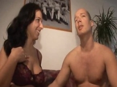 Reality porn with a cute brunette