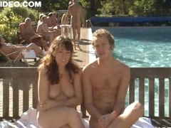 Busty British Babe Olivia Colman Shows It All At a Nudist Camp